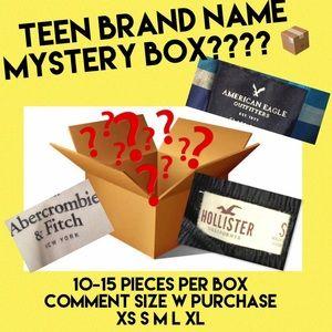 Brand name mystery box HCO AE A&F